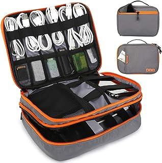 Tensphy Kabeltasche, Elektronische Tasche Wasserdicht Universal travel Kabel Organizer für Kabel, SD Karten, Festplatte, Power Bank, 7,9 Zoll ipad (grau)