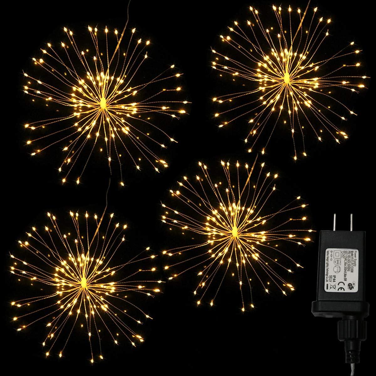 Max 40% OFF Dreamworth 4 Pcs Total 480 LED Wire Copper Firework Superlatite Fair Lights