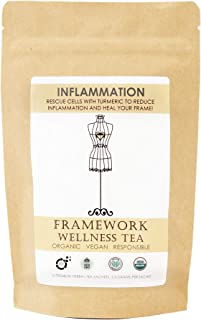 Anti-Inflammatory Tea with Citrus, Cacao & Turmeric to Reduce Inflammation- Organic Whole Leaf Tea Blend Packaged in Pyram...