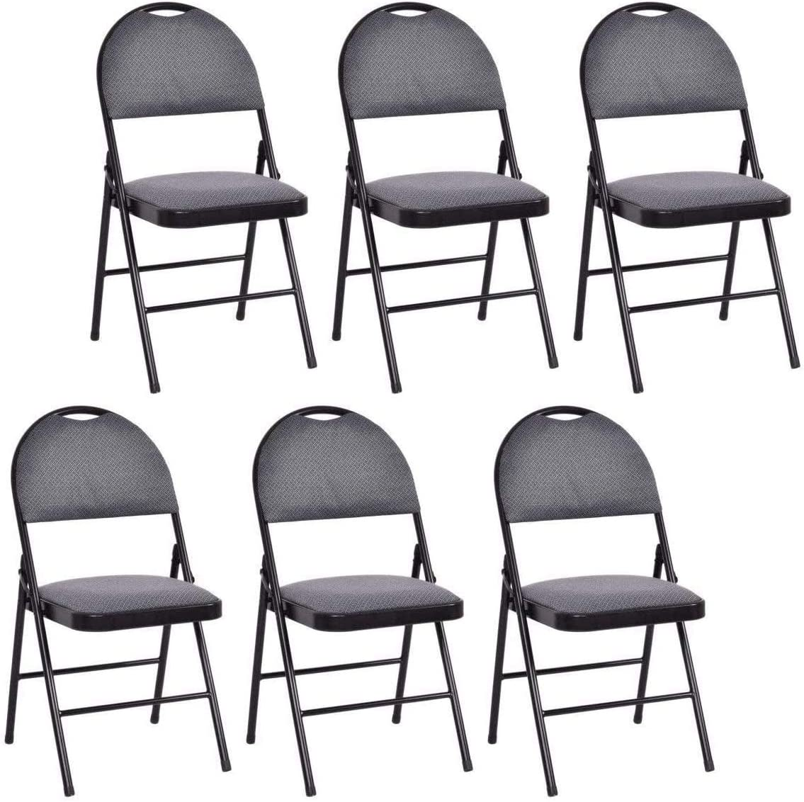 Casart 6-Pack Folding Chair with Clearance sale SALE Limited time Upholstered Seat and Padded Bac