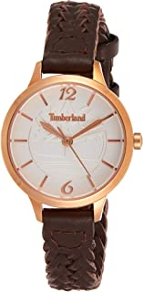 Timberland Women's Silver Dial Leather Band Watch - Tbl15265Lsr-01, Analog Display, Quartz Movement