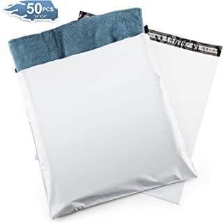 Metronic 50PC Large Shipping Bags White Poly Mailers 24x24 Envelopes with Self Adhesive,Waterproof and Tear-Proof Postal Bags