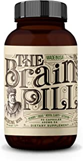 Medicine Man Plant Co. - The Brain Pill: Memory, Focus, Attention, Mental Clarity - Lions Mane, Ginkgo Bilo...