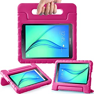 AVAWO Kids Case for Samsung Galaxy Tab A 8.0 2015 SM-T350 - AVAWO Light Weight Shock Proof Convertible Handle Stand Kids Friendly for Samsung Tab A 8-Inch SM-T350 Tablet, Rose