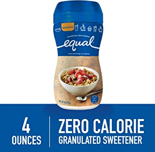 EQUAL Spoonful, Sugar Substitute, Sugar Free Granulated Zero Calorie Sweetener, Sugar Alternative, 4 Ounce