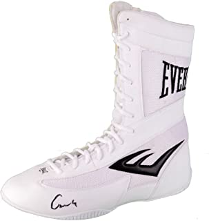 Muhammad Ali Cassius Clay Autographed White Everlast Boxing Shoe - PSA/DNA Certified - Autographed Boxing Equipment