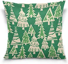 """MASSIKOA Christmas Trees Holiday Forest Decorative Throw Pillow Case Square Cushion Cover 18"""" x 18"""" for Couch, Bed, Sofa o..."""