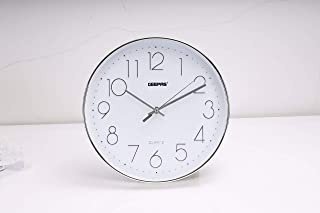 Geepas Wall Clock - Silent Non-Ticking, Arabic Numeral Clock, Round Decorative Wall Clock for Living Room, Bedroom, Kitche...