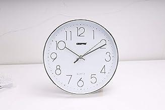 ساعة حائط جيباس - صامتة غير موقوتة ، ساعة رقمية عربية، ساعة حائط ديكور دائرية لغرفة المعيشة ، غرفة النوم ، المطبخ (البطاري...