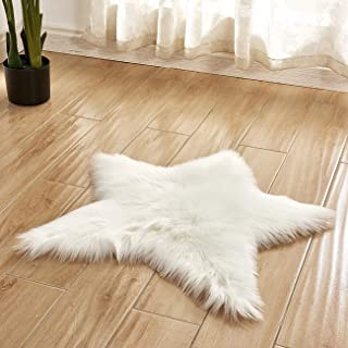 Picturesque Solid Color Indoor Star-Shaped Anti-skidding Plush Rug/Foot Pad for Bedroom Living Room 23.6