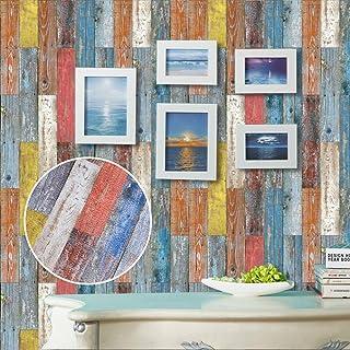 Gaonmic Self-Adhesive Wall Tile Stickers Waterproof Backsplash Stickers for DIY Kitchen Bathroom Decor (003-Imitation Leather Wood Pattern, 15x15cm (6x6))