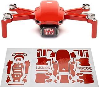 Wrapgrade Skin sticker set kompatibel med DJI Mini 2 (SUPER RED)