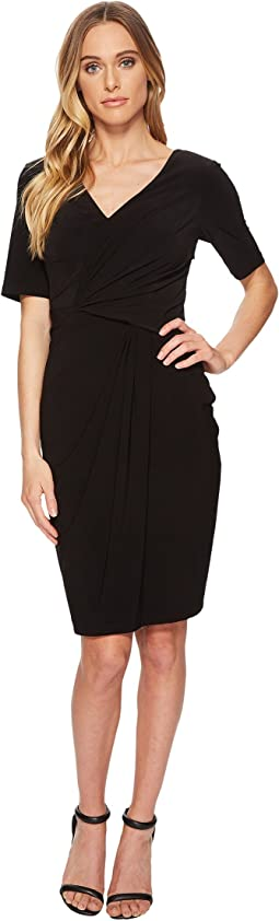 Twisted Draped Jersey Sheath