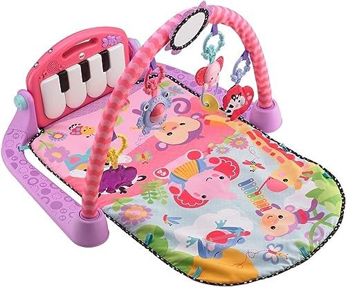 Fisher-Price Tapis Musical d'Éveil et d'Activité Piano pour Bébé, Aire de Jeu, avec 4 Modes, dès la Naissance, rose, ...