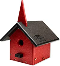 product image for DutchCrafters Eco Friendly Church Bird House (Black & Bright Red)