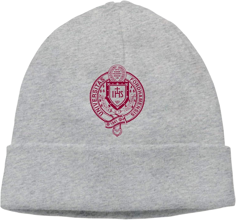 Fordham University Logo Fashion Trend Classic Winter Warm Knit Hat Beanie Cap for Children Adolescents and Youths Winter Beanie Knit Hats for Men & Women Gray