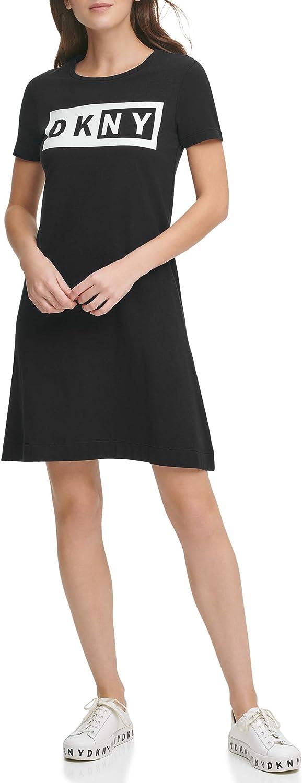 DKNY Damen Fit and Flare T-Shirt Dress Kleid