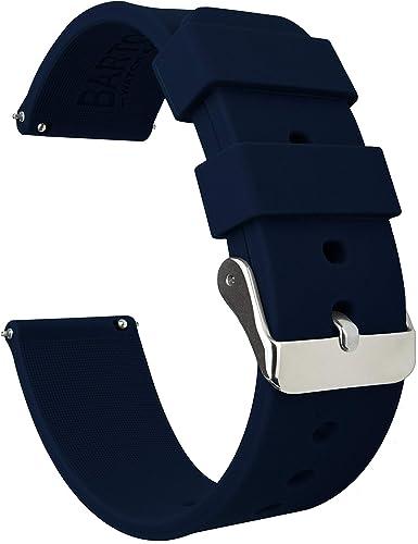 BARTON WATCH BANDS Silicone Bracelet De Montre Libération Rapide - Choisissez La Couleur Et La Largeur