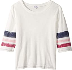 Roller Stripe Bell Sleeve T-Shirt (Big Kids)