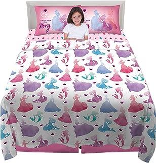 Franco Kids Bedding Super Soft Microfiber Sheet Set, 4 Piece Full Size, Disney Princess