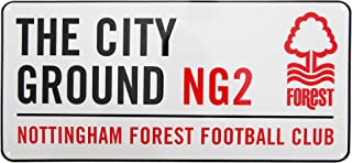 Nottingham Forest FC Official The City Ground Metal Soccer/Football Street Sign (One Size) (White/Red/Black)
