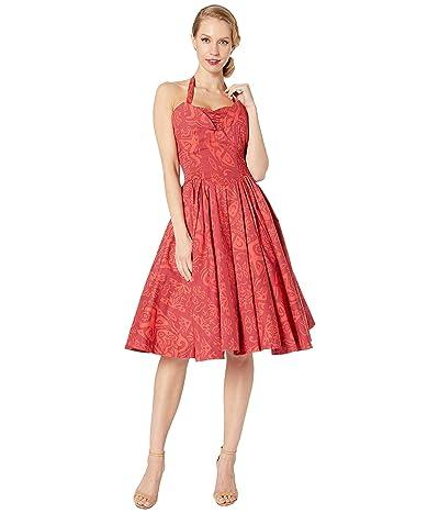 Unique Vintage Unique Vintage x Alfred Shaheen Tiki Print Swing Dress (Red) Women
