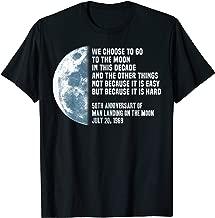Apollo 11 50th Anniversary President Kennedy JFK Moon Speech T-Shirt