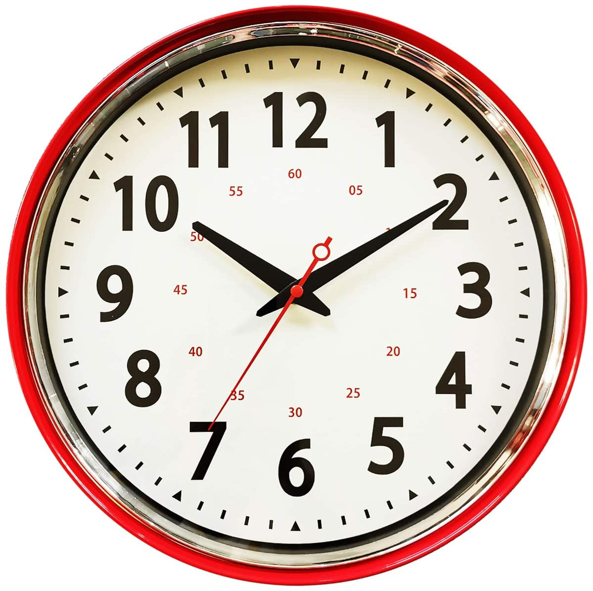 Wall Clock Opening large release sale Countryside Style Vintage 100% quality warranty Retro Sile Metal
