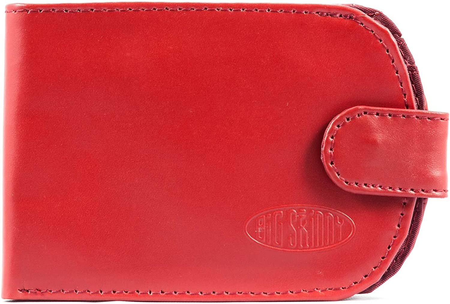 Big Skinny Women's Taxicat Leather BiFold Slim Wallet