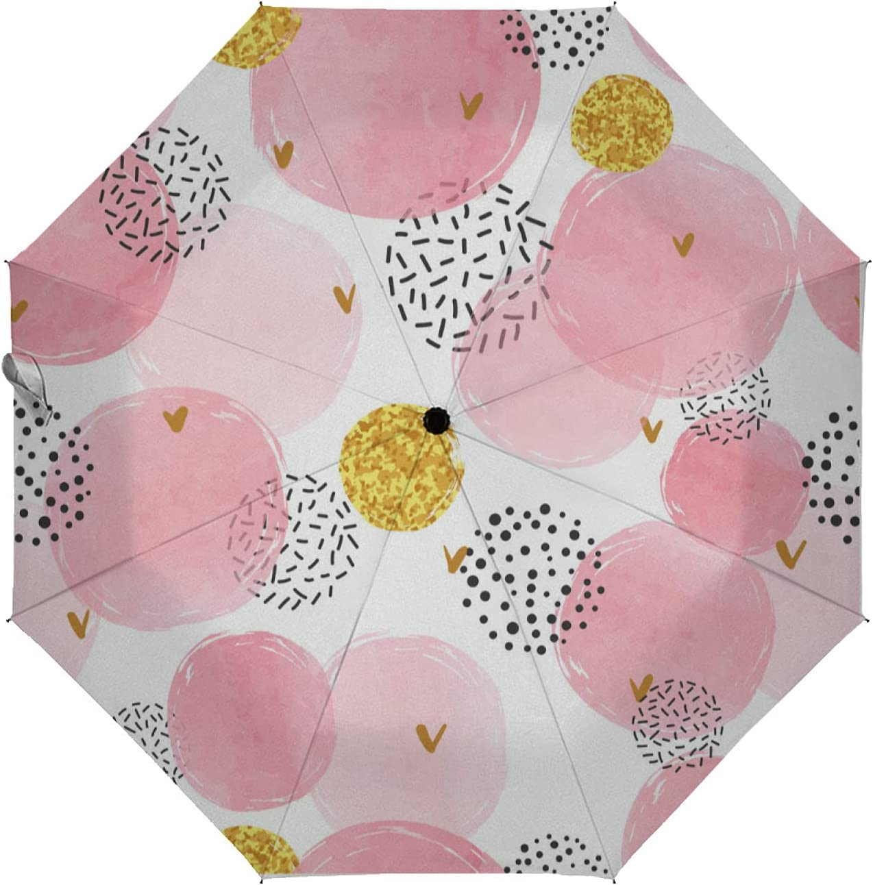 Sales of SALE items from new New life works ZXZNC Auto Open Close Umbrella Gold Watercolor Circles and Pink