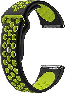 أساور استبدال رياضية من السيليكون لفيتبيت فيرسا وفيرسا لايت نسخة فيرسا الخاصة والساعة الذكية فيرسا 2 (الأسود مع الأخضر)