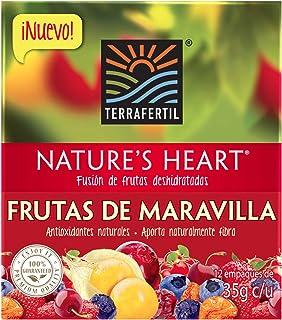 Nature's Heart Display de Snack de Frutas Deshidratadas, Frutas de Maravilla, 12 x 35 g