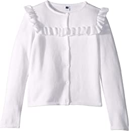 Ruffle Cardigan Sweater (Toddler/Little Kids/Big Kids)