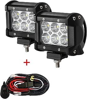 LED Light Bar+Wiring Harness, 2Pcs 4