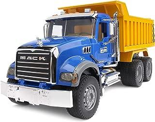Bruder 02815 MACK Granite Dump Truck for Construction and Farm Pretend Play
