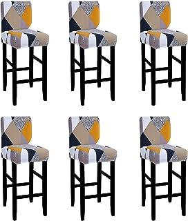 F Fityle Housse de Tabouret Chaise Couvre Extensible Couverture de Tabouret de Barre Ronde Epaisse Stretch-Able arm/ée Verte