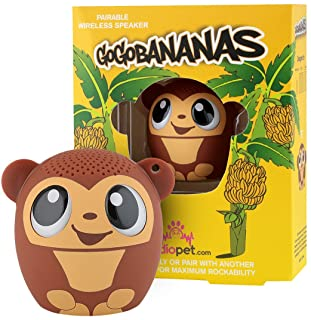 My Audio Pet Monkey Mini Bluetooth Animal Wireless Speaker for Kids of All Ages - True Wireless Stereo Technology - Pair with Another TWS Pet for Powerful Rich Room-Filling Sound - (GOGO Bananas)