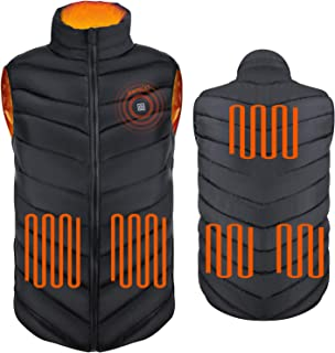 (Black-XL Electric Heating Vest Heated Jacket(Without...