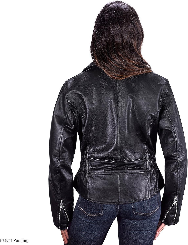 Babubala Stylish;Pretty Cruise Motorcycle Jacket for Women (3XL)