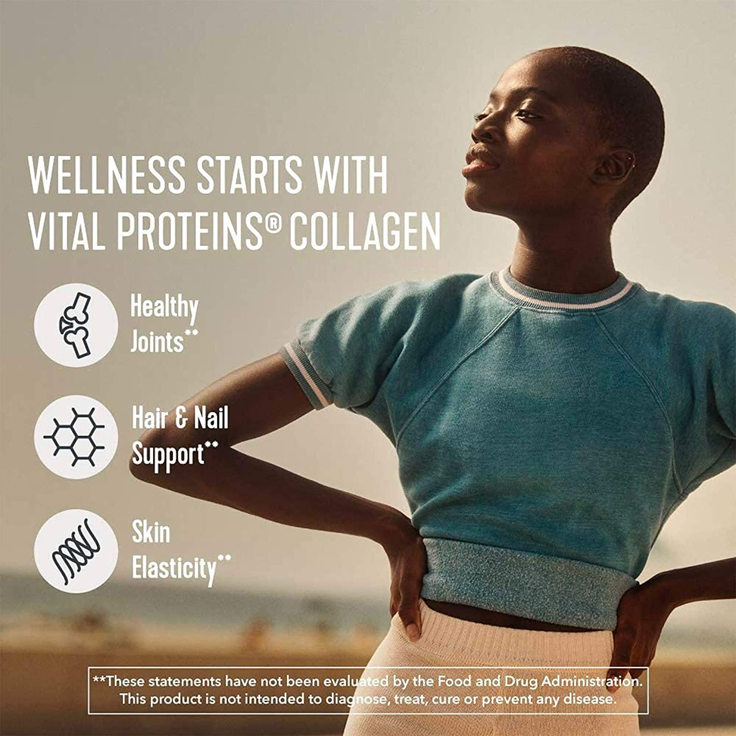 Vital Proteins Collagen Peptides Powder with Hyaluronic Acid and Vitamin C - Promotes Hair, Nails, Skin and Joint Health - Unflavored