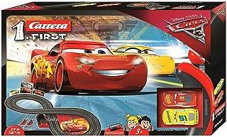 Carrera FIRST Disney Pixar Cars – Circuit de course électrique avec voitures miniatures Flash McQueen et Cruz Ramirez – Jo...