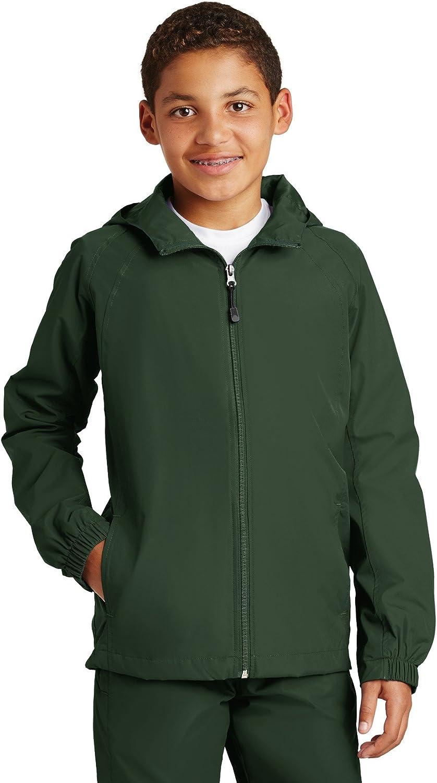 Sport Tek Youth Hooded Raglan Jacket. YST73 [Apparel]