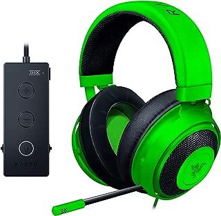 Razer Kraken 锦标赛版本:Thx Spatial Audio - 全音频控制 - 冷却凝胶耳垫 - 游戏耳机适用于电脑、PS4、Xbox One、开关和移动设备 - 黑色
