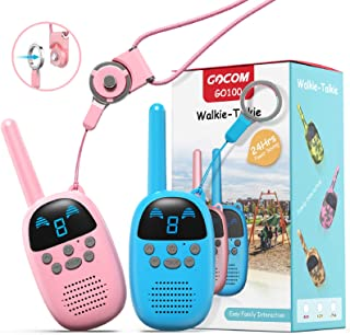 GOCOM Walkie Talkies for Kids, Kids Toys Handheld Child Gift Walky Talky, Two-Way Radio Boys & Girls Toys Age 3-12, for Indoor Outdoor Hiking Adventure Games