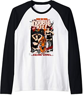 ROCKSTAR Gothic Retro Vintage Sexy Betty & Tiger - Pin-up Raglan Baseball Tee