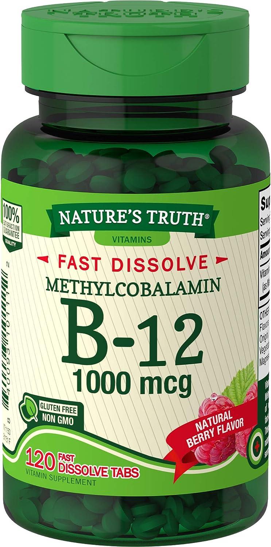 B12 Manufacturer regenerated product Vitamin Sublingual Tablets 1000 Soldering 120 mcg Vegetari Count