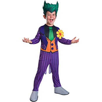 The Joker Fancy Dress Batman Villian Boys Halloween Kids Costume Mask Age 3-10