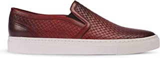 Deery Hakiki Deri Kırmızı Bağcıksız Sneaker Erkek Ayakkabı - 01675MKRMC01