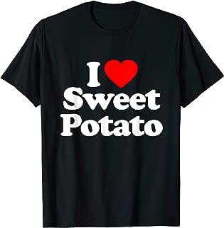 I Love Sweet Potato Heart Funny T-Shirt