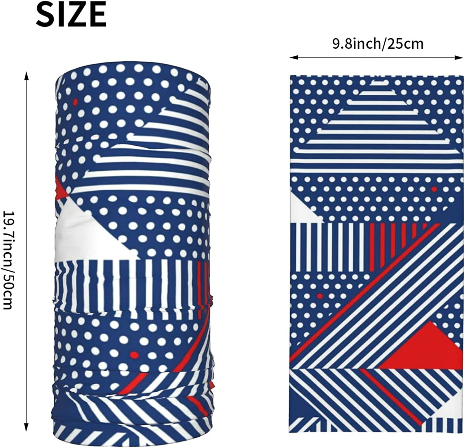 Blue and White Stripes Neck Gaiter Multipurpose Headwear Ice Silk Mask Scarf Summer Cool Breathable Outdoor Sport 4 Pcs